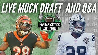 Live Fantasy Football Q\u0026A \u0026 Mock Draft!