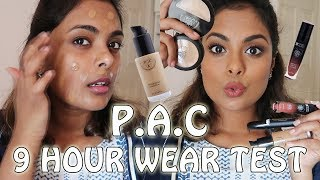 PAC COSMETICS -  9 HOUR WEAR TEST, FIRST IMPRESSIONS & REVIEW