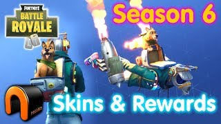 FORTNITE SEASON 6 SKINS ET REWARDS