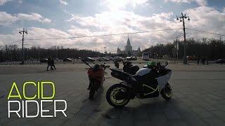 Burn || Дубасим на мотоциклах по Москве || Wild riding on motorcycles