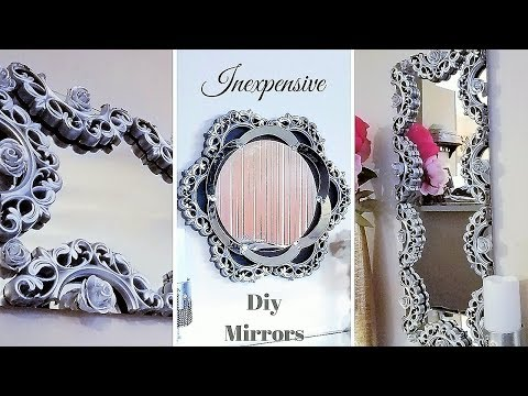Unique Diy Wall Mirrors| Easy Wall Decorating| Inexpensive Home Decor Ideas!