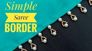 Hand made border/for saree/border making/very cute border/ useful & easy