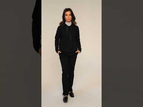 Video: CM4598 Bluza damska z kapturem - czarna