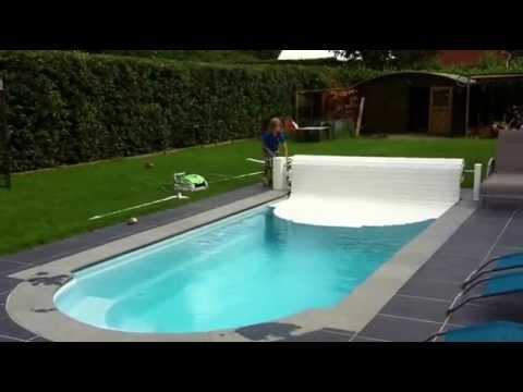 automatisch bovengronds zwembadrolluik zo youtube