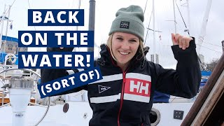 Say Hello To Our Little Inflatable Boat \\\\ Living On A Sailboat In Canada Ep. 21
