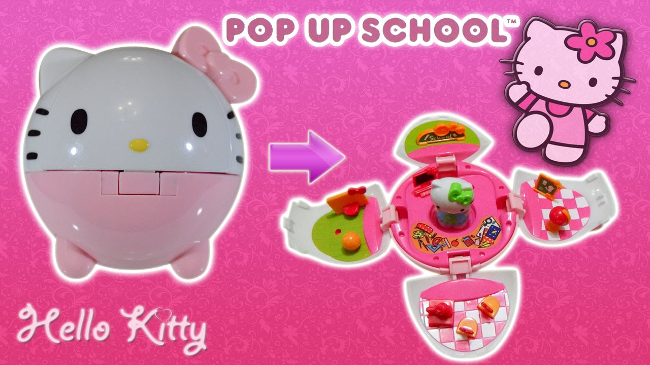 Sanrio Hello Kitty Pop up School Playset Toys Unboxing by Kids