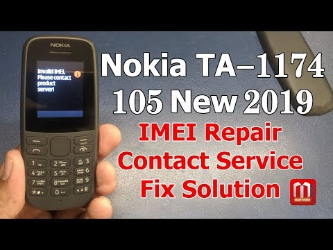 Nokia 105 TA-1174 IMEI Repair And Contact Service Solution