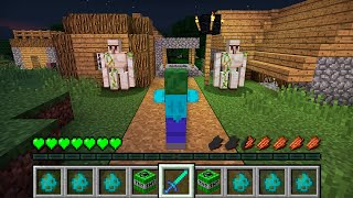 HOW THE ZOMBIE ATTACKED THIS VILLAGE IN MINECRAFT Inventory Noob vs Pro
