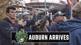 Auburn arrives at Nissan Stadium in Nashville for Music City Bowl