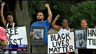 Protest held over Dallas statue of Confederate General Robert E. Lee