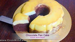 CHOCOLATE FLAN CAKE - چاکلیٹ فلان کیک - चॉकलेट फ़्लान केक  *COOK WITH FAIZA*