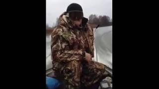 Казанка + Хонда 20. Cкорость лодки по навигатору 37-41км/час