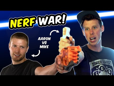 Thumbnail: NERF WAR: AARON VS MIKE (Doomlands vs Modulus + Star Wars?)