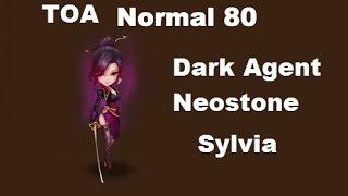 Summoners War - TOA Normal 80 Sylvia com monstros farmaveis