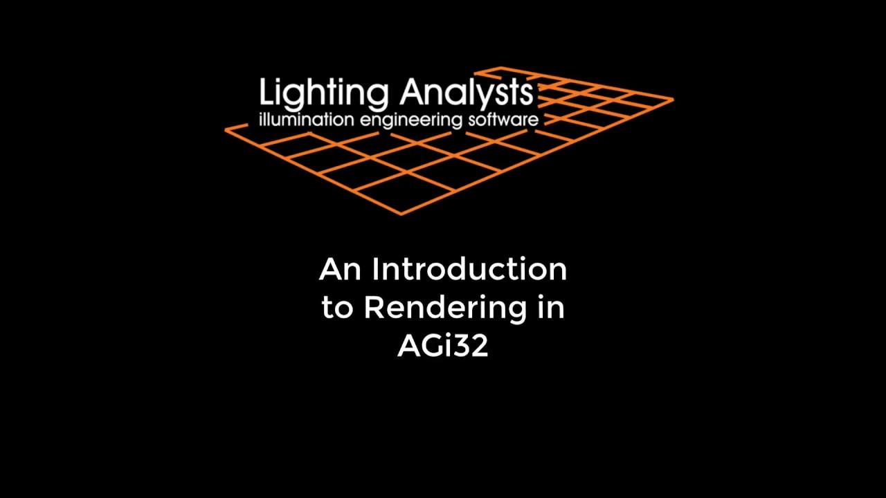 AGi32 Rendering | Lighting Analysts