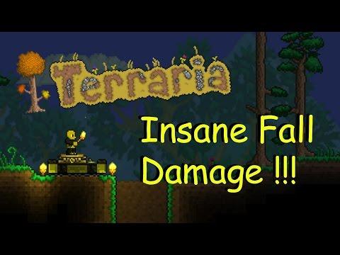 Terraria: Insane Fall Damage Dummy Test (1080p60)