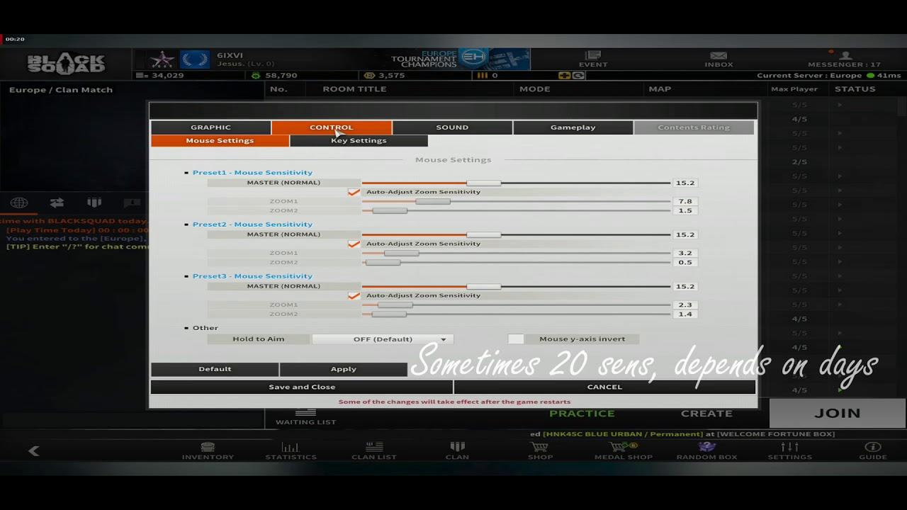 Black Squad - SixIXVI Config/Options