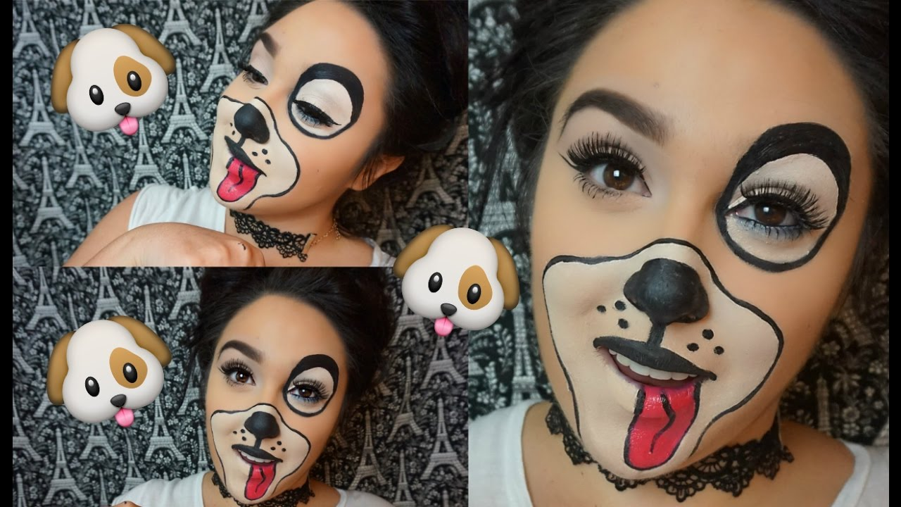 Dog Halloween Makeup.Easy Cute Puppy Halloween Makeup Youtube