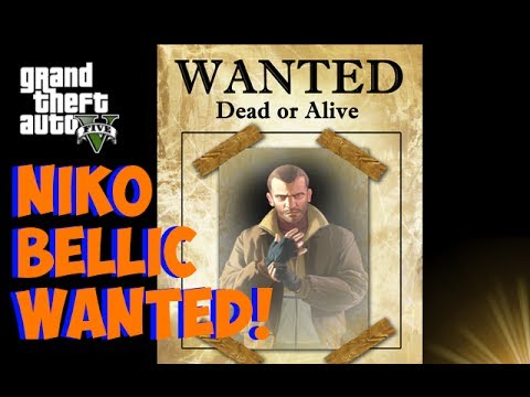 "GTA 5 Online - *NEW* Niko Bellic ""WANTED POSTER"" Easter ..."