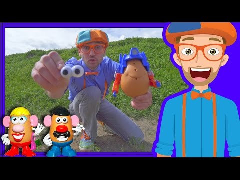 Thumbnail: Potato Heads with Blippi on the Farm | Videos for Toddlers
