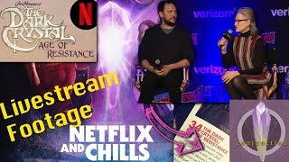 Dark Crystal Age of Resistance Netflix Panel from NYCC Livestream with Commentary