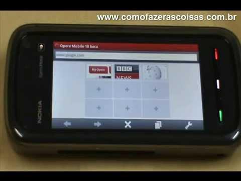 Como Fazer O Download E Instalar O Browser Opera Mobile Para O Nokia 5800