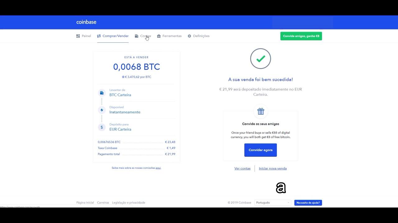 come depositare bitcoin in coinbase