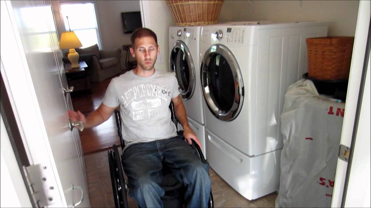Wheelchair accessible home youtube for Wheelchair accessible housing