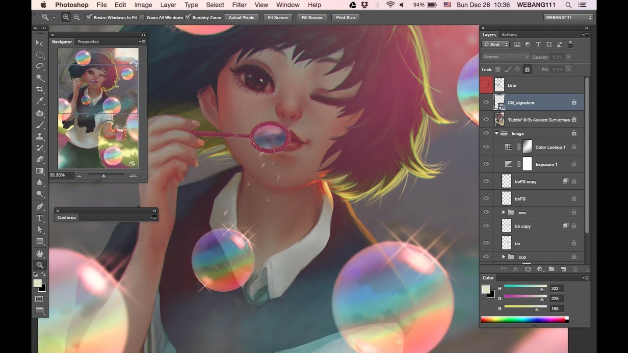 Bubbles digital painting youtube Digital art painting software