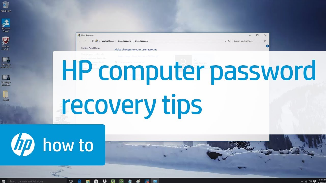 hp system recovery administrator password