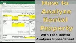How to Analyze Rental Property - Free Rental Analysis Spreadsheet