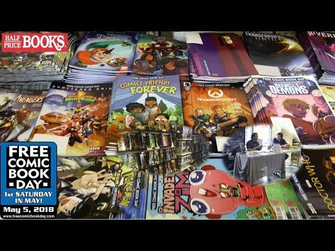 Free Comic Book Day Haul 2018 | Comic Book Stores & Half Price Books!