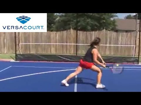 Tennis Rebounder by VersaCourt - YouTube