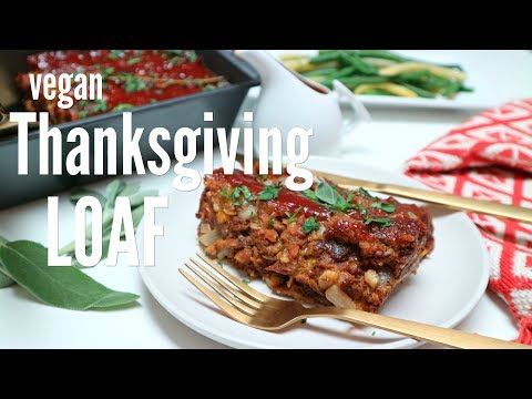 Vegan Thanksgiving Loaf w/cranberry sweet and sour sauce