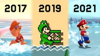 Evolution of Running On Water in Super Mario Games