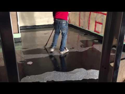 Silver Epoxy Glitter Floor