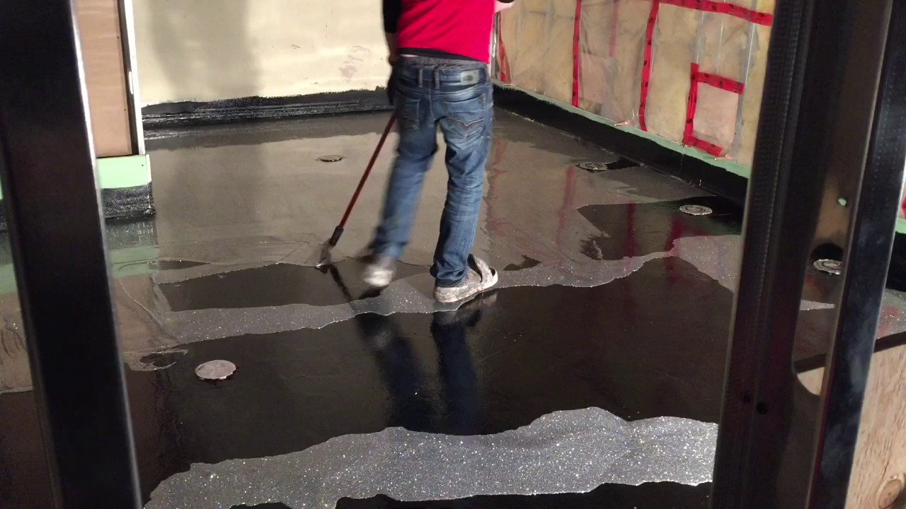 Silver Epoxy Glitter Floor You