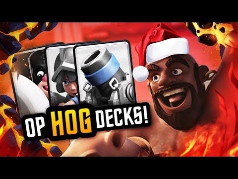 BEST 4 HOG DECKS to MAKE your opponenent RAGE QUIT!!!
