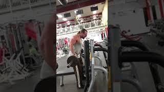 Dave Morrow DRAG CURLS Biceps Training @ World Gym Long Island NY