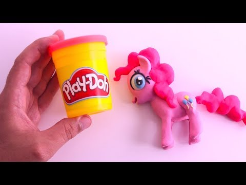 PLAY DOH PINKIE PIE | How To Make My Little Pony Playdoh Stop Motion Video Arts and Crafts