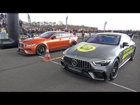 Watch Mercedes-AMG GT 63 S drag race Jaguar XE SV Project 8