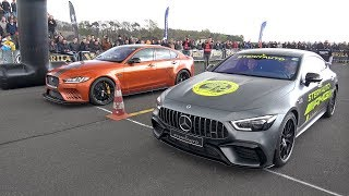 Jaguar XE SV Project 8 vs Mercedes-AMG GT63s 4-door Coupe
