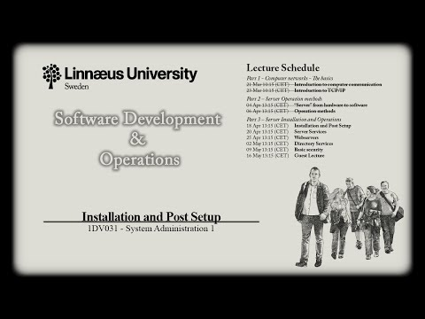 1DV031 - L04 - OS Installation and Post Setup