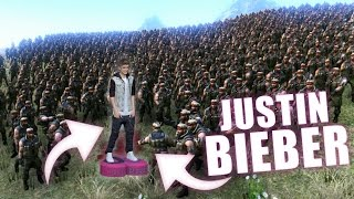 JUSTIN BIEBER VS 500.000 CHUCK NORRIS | UEBS - Ultimate Epic Battle Simulator