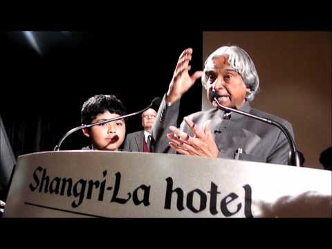 Srikar being aknowledged by Dr Abdul Kalam