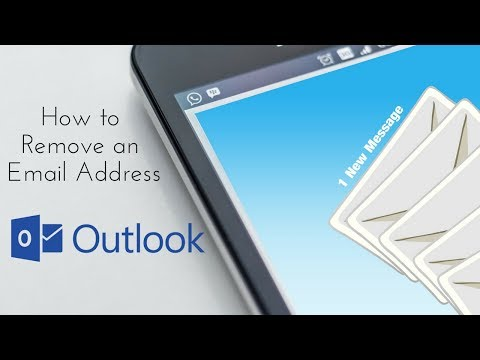 How to delete email account in outlook 2020
