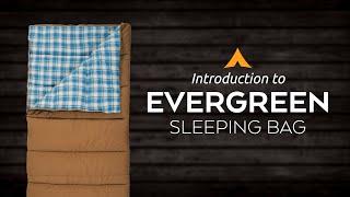 Evergreen Canvas Sleeping Bag