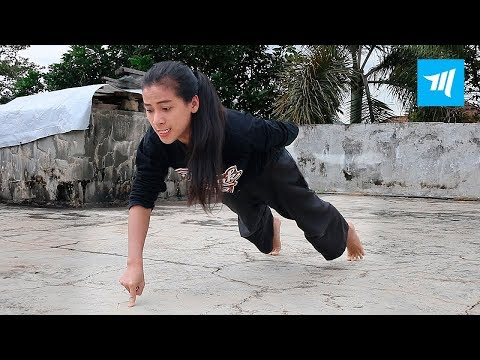 Strongest Ninja Girl - Chintya Candranaya | Muscle Madness