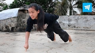 Strongest Ninja Girl - Chintya Candranaya | Muscle Madness