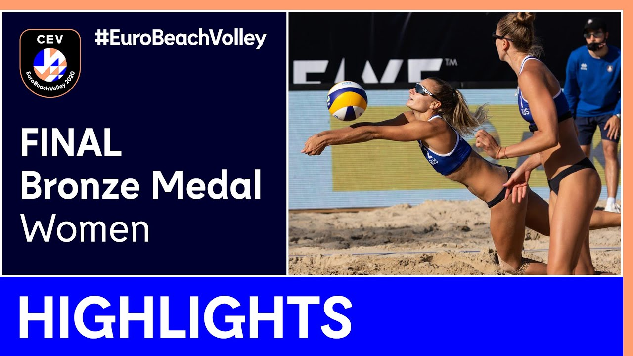 Makroguzova/Kholomina vs Hermannova/Slukova Bronze Medal Highlights - EuroBeachVolley 2020 Women